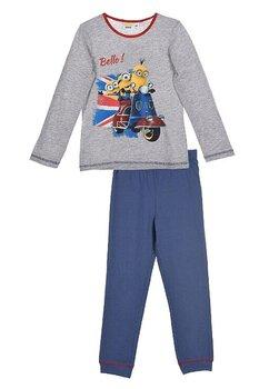 Pijama bumbac, Bello Minion, gri