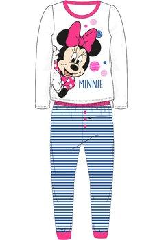Pijama cu maneca lunga , alba cu buline colorate