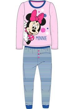 Pijama cu maneca lunga , roz cu buline colorate