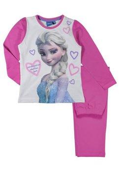 Pijama Elsa, roz cu inimioare