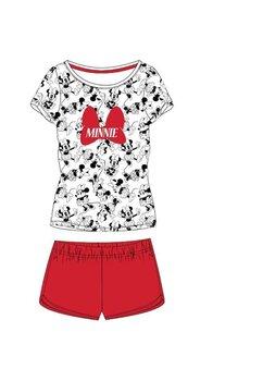 Pijama femei, maneca scurta, Minnie, rosie