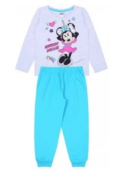 Pijama fete, Minnie Unicorn Dreams, turcoaz cu gri