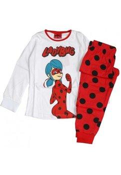 Pijama, Ladybug, alba cu buline
