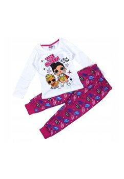 Pijama, LOL Rock, alb cu roz