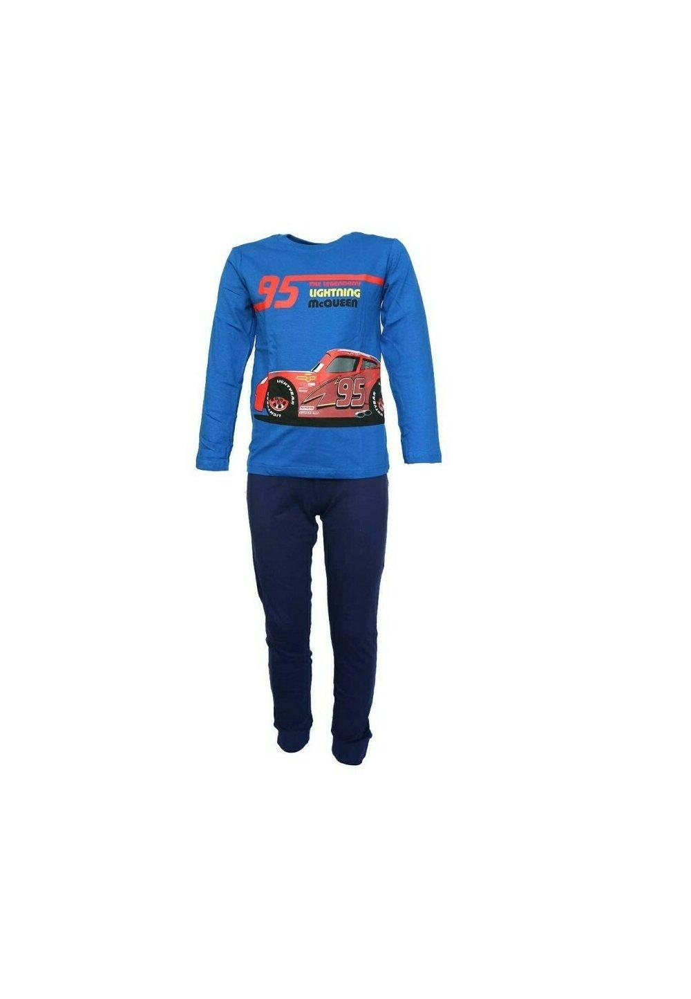 Pijama maneca lunga, Cars 95, albastra imagine