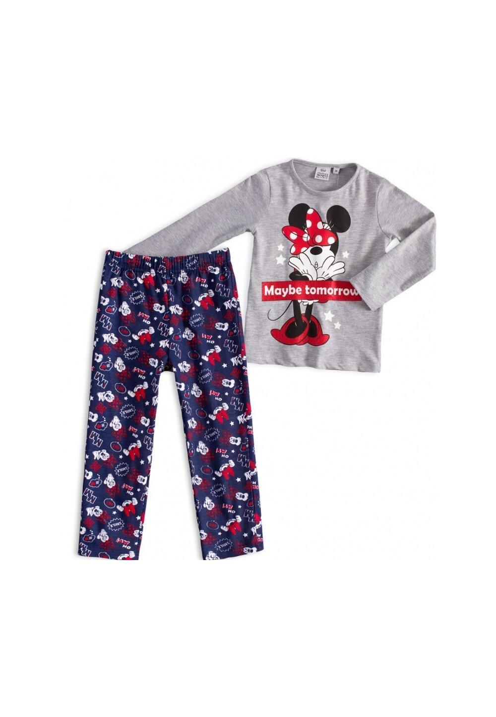 Pijama, maneca lunga, Maybe tomorrow, gri imagine