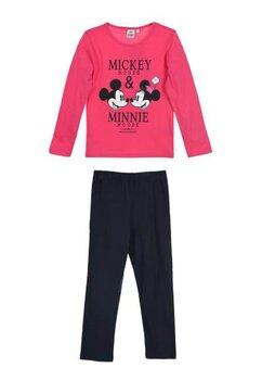 Pijama, maneca lunga, Mickey and Minnie Mouse, roz