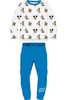 Pijama maneca lunga, Mickey si prietenii, gri cu albastru