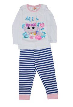 Pijama maneca lunga, Milady, alba