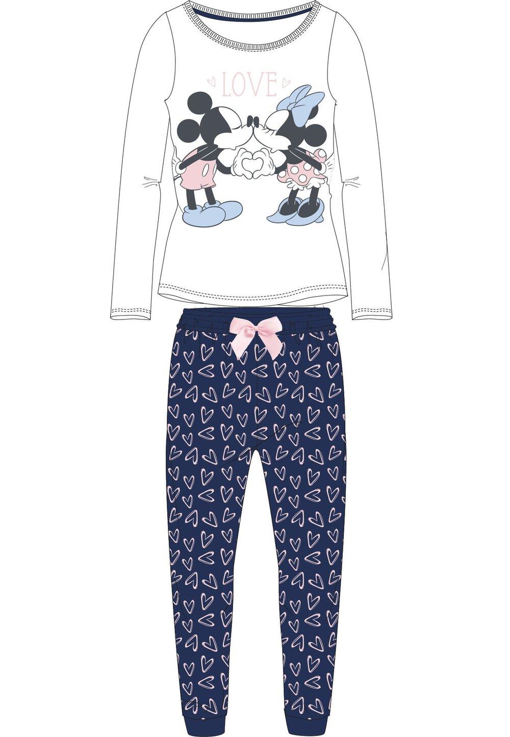 Pijama maneca lunga, Minnie and Mickey love, alba imagine