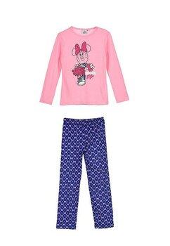 Pijama, maneca lunga, Minnie style, roz