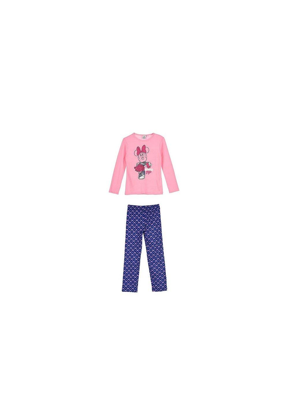 Pijama, maneca lunga, Minnie style, roz imagine
