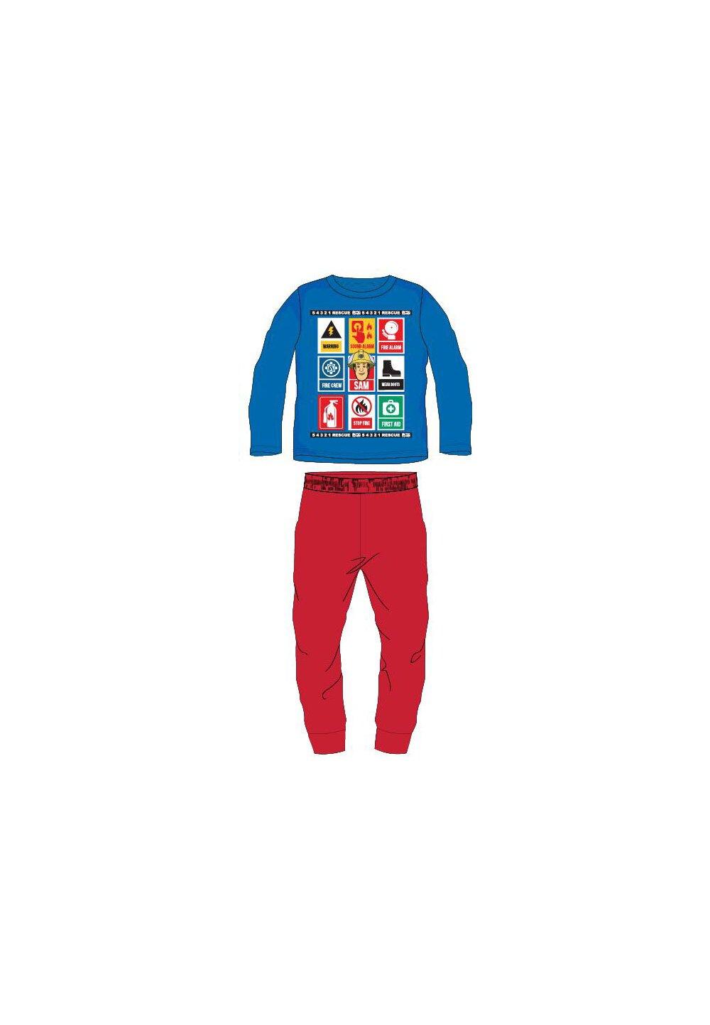 Pijama maneca lunga, Rescue Sam, albastra