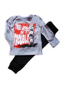 Pijama maneca lunga, Three layers of Trouble, gri