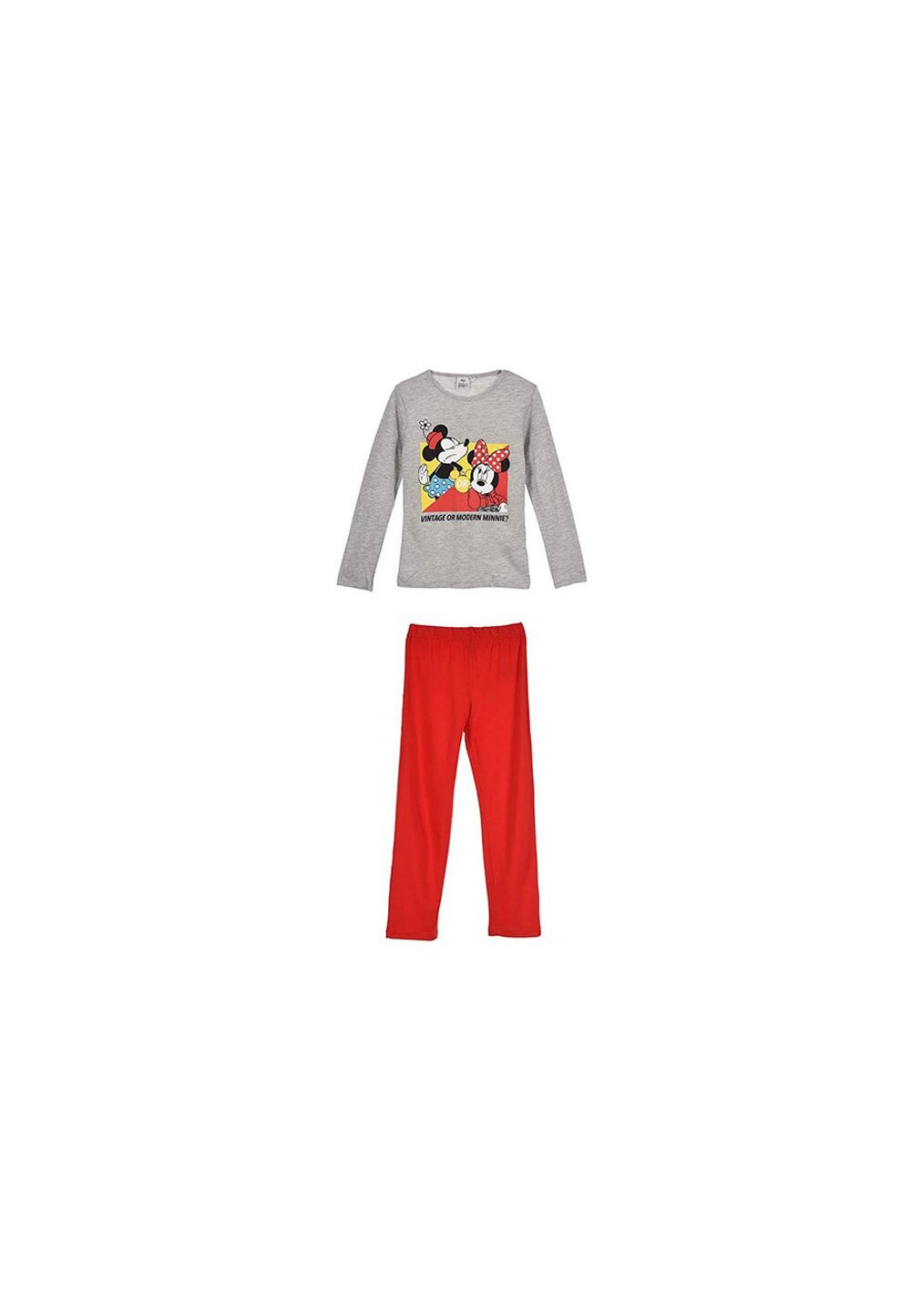 Pijama, maneca lunga, Vintage or modern Minnie, gri imagine