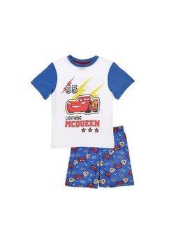 Pijama, maneca scurta, albastra, Lightning Mcqueen