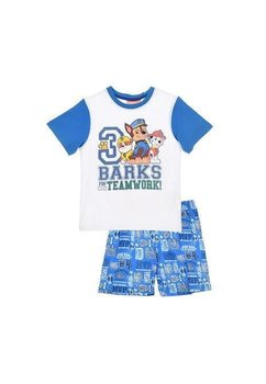 Pijama, maneca scurta, albastra, Teamwork