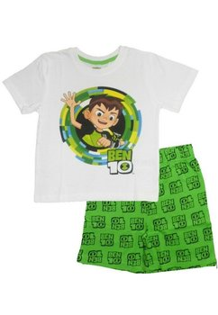 Pijama, maneca scurta, Ben 10, alb cu verde