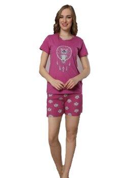 Pijama maneca scurta, Bufnita, mov