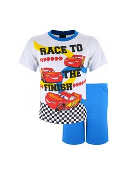 Pijama maneca scurta, Cars the finish, albastra
