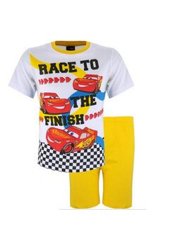 Pijama maneca scurta, Cars the finish, galbena