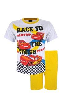 Pijama maneca scurta, Cars the finish, galbena