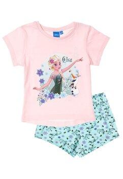 Pijama maneca scurta, Elsa, roz