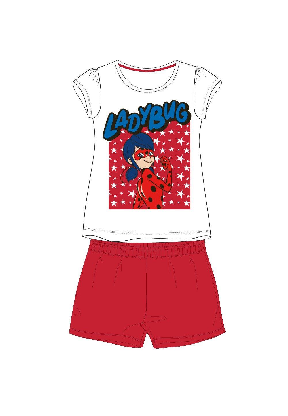 Pijama, maneca scurta, Ladybug, rosie imagine