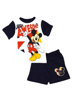Pijama, maneca scurta, Mickey, Just so awesome, bluemarin