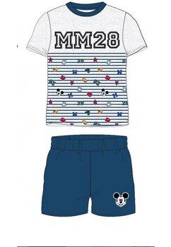 Pijama maneca scurta, MM 28, gri cu bluemarin