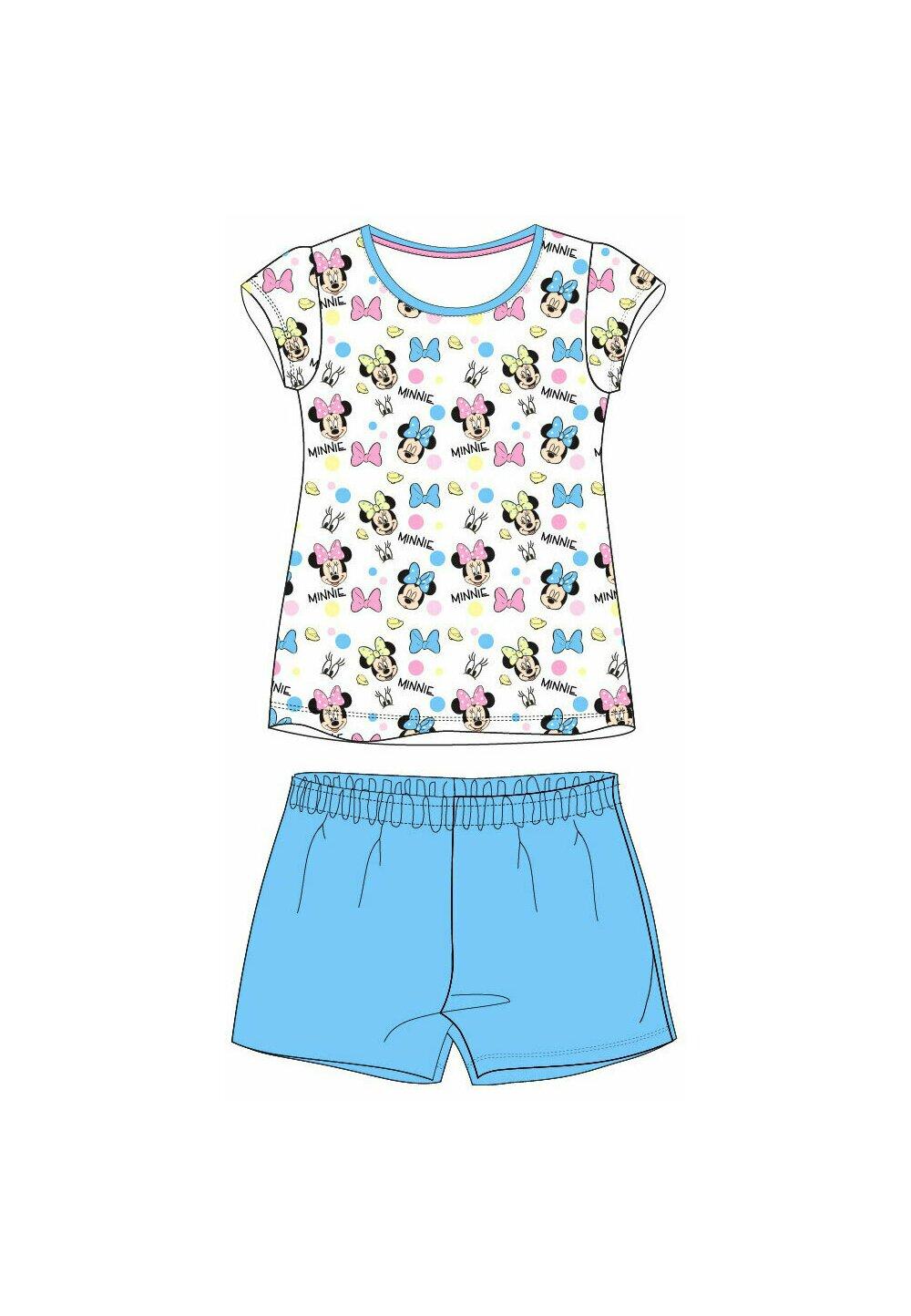 Pijama maneca scurta, multi Minnie, albastra imagine