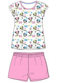 Pijama maneca scurta, multi Minnie, roz