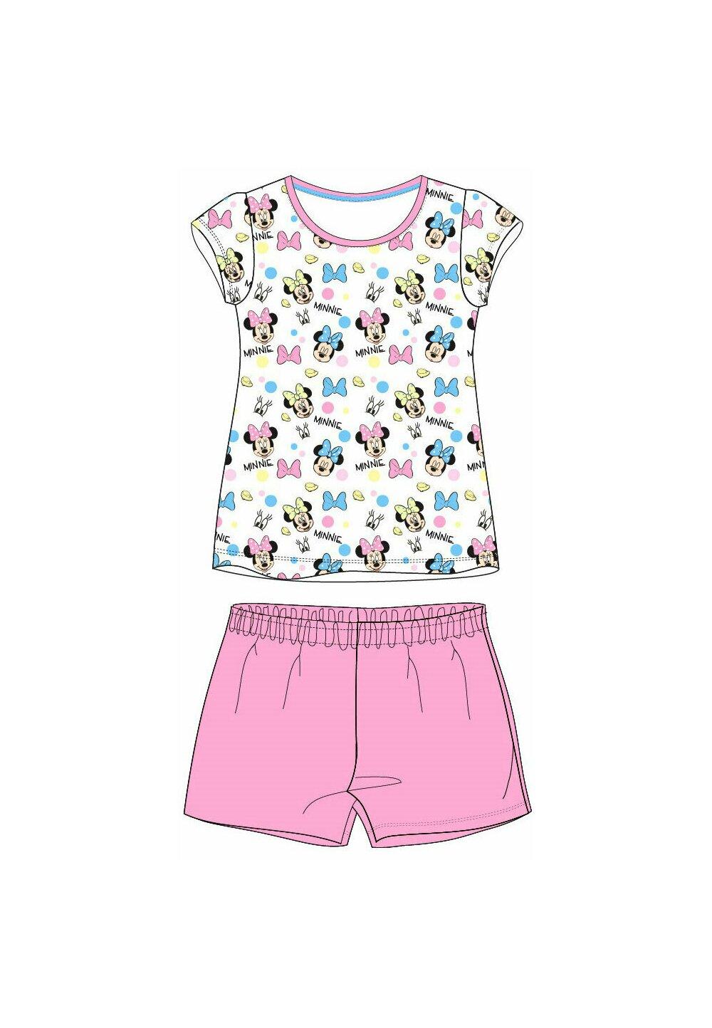 Pijama maneca scurta, multi Minnie, roz imagine