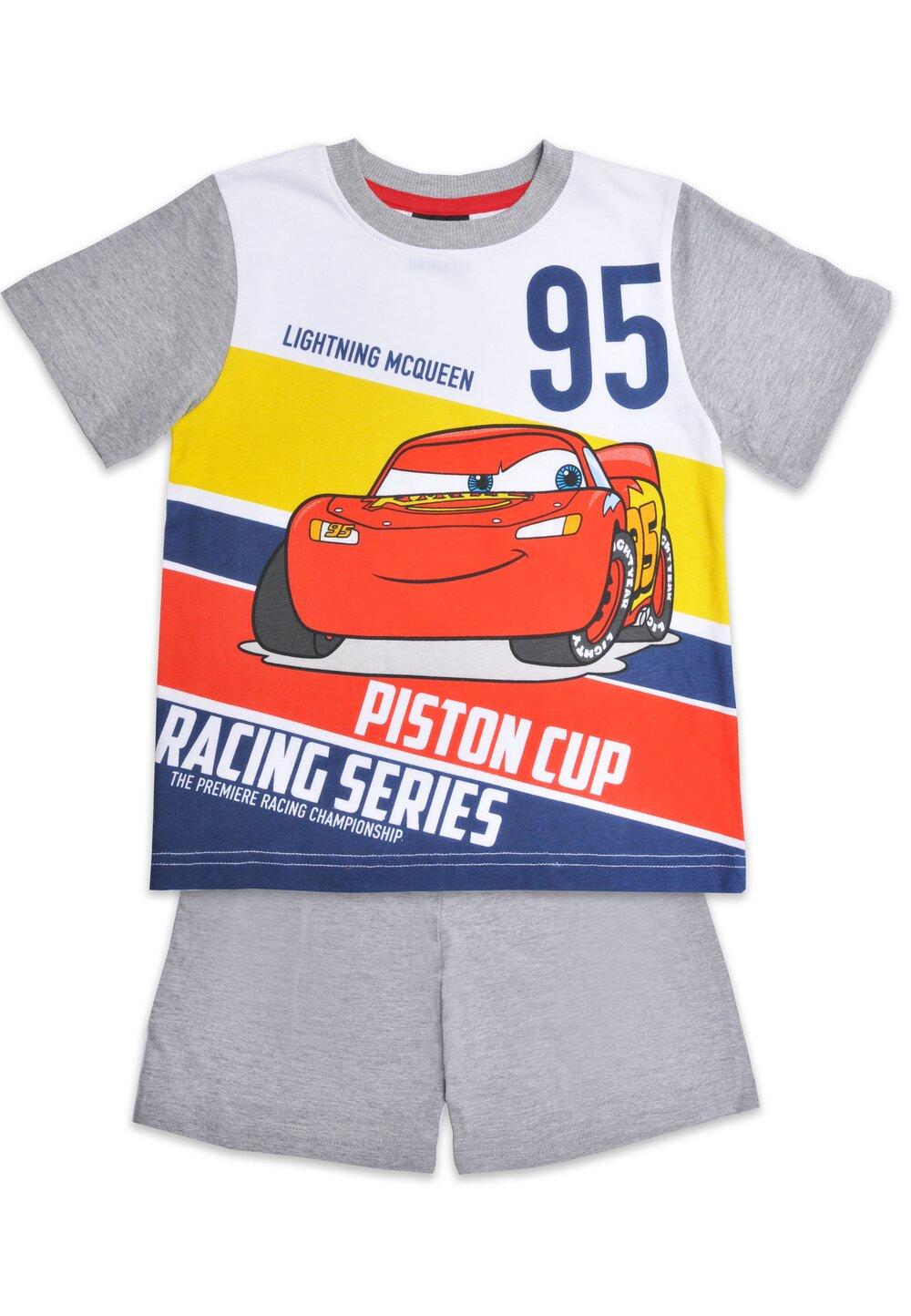 Pijama maneca scurta, Piston cup, gri imagine