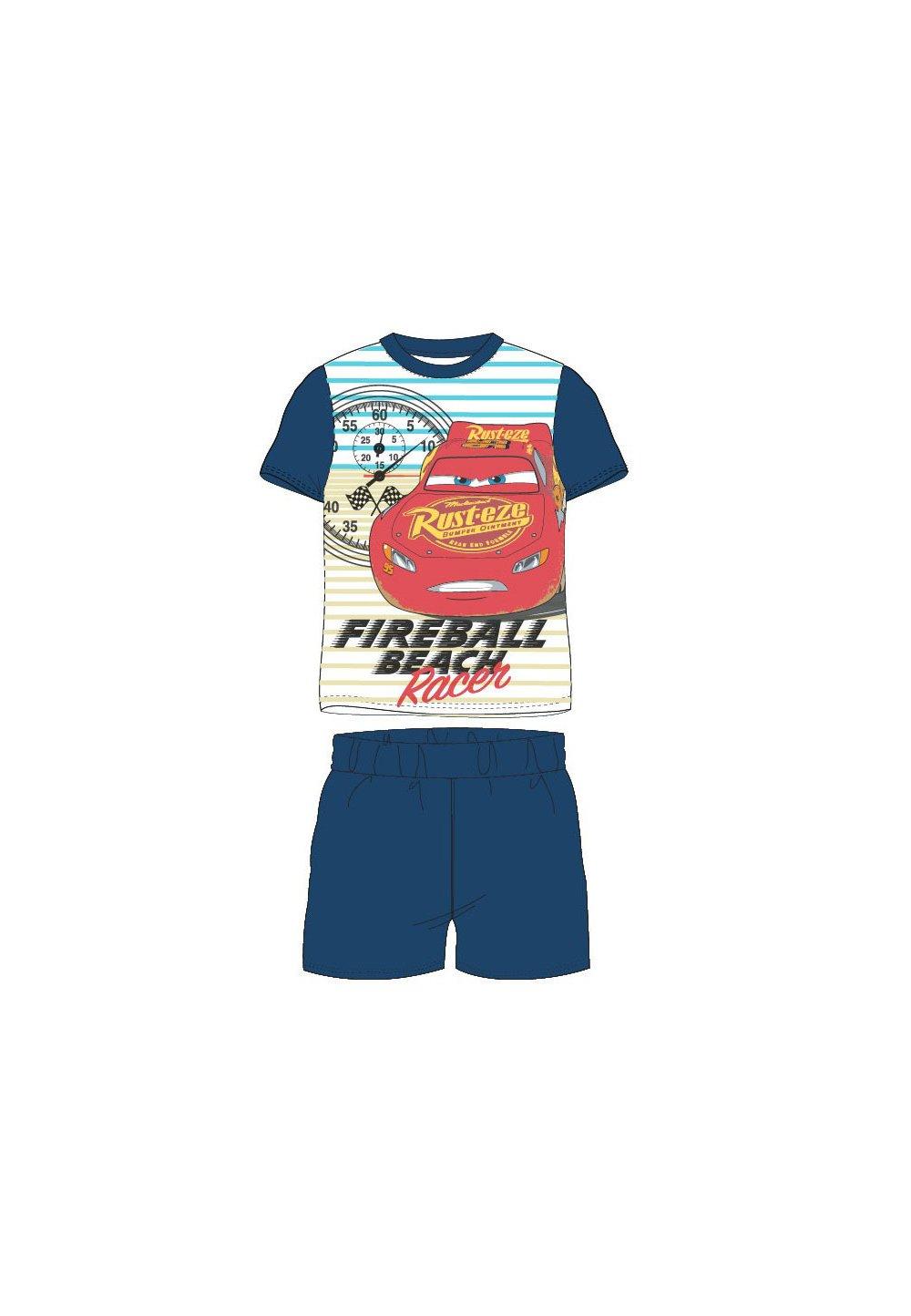 Pijama, maneca scurta, Racer, bluemarin