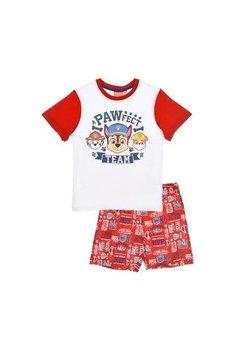 Pijama, maneca scurta, rosie, A pawfect team