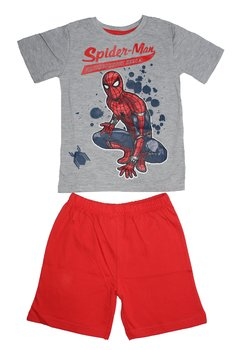 Pijama, maneca scurta, Spider-Man, gri