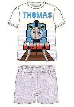 Pijama, maneca scurta, Thomas, cu dungi gri