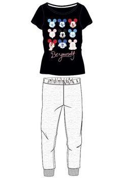 Pijama, Mickey Mouse, negru cu gri