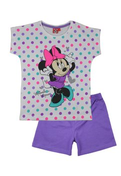 Pijama Minnie Mouse cu buline, mov