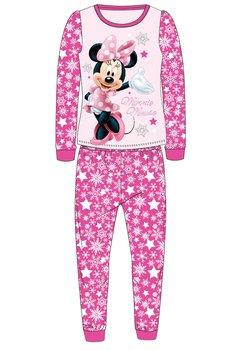 Pijama Minnie, roz inchis cu fulgi de zapada