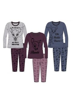Pijama mov deschis, pantalon 3/4, Bambi