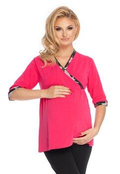 Pijama pentru alaptat, Ana, roz cu negru