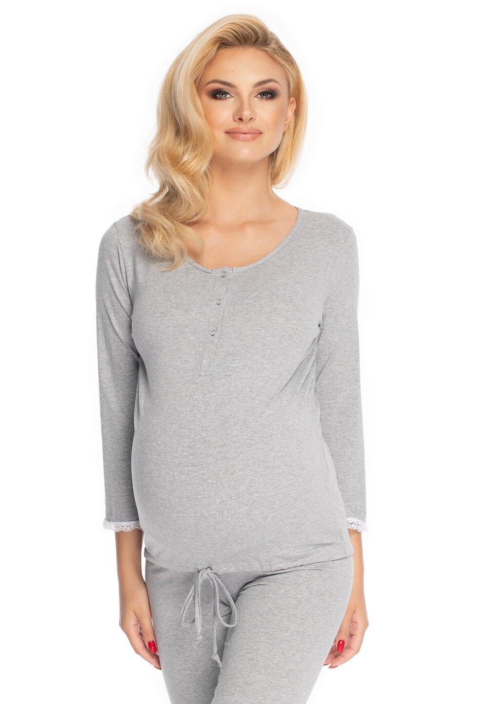 Pijama pentru alaptat, Diana, gri imagine