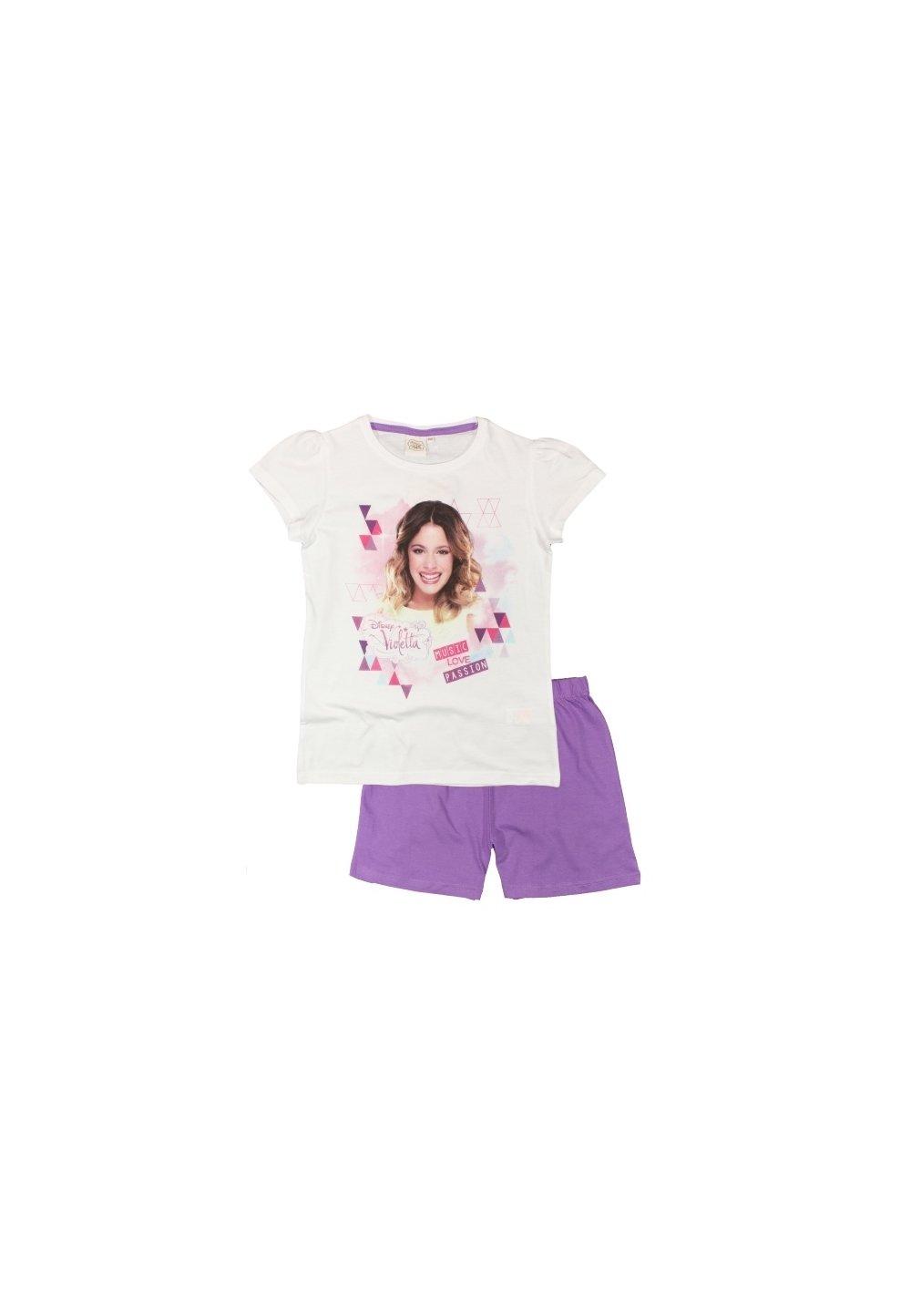 Pijama scurta Violetta, mov imagine