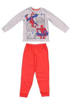 Pijama Spider, gri cu rosu