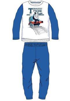 Pijama Thomas, alb cu albastru