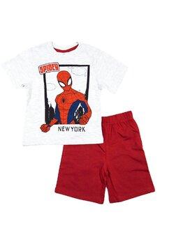 Pijama vara, Spiderman, rosu cu gri