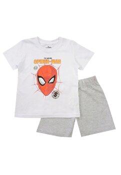 Pijama vara, Spiderman, The amazing, alb cu gri