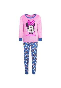 Pijama velur roz, Minnie cu fundita roz